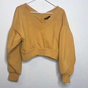 Cropped mustard jumper